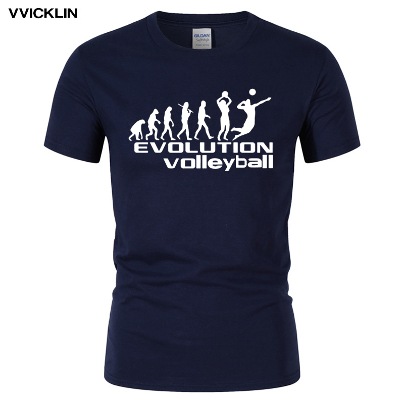 2019 Summer Men's Funny Style Evolution of Volleyballs T Shirt Cotton O Neck Short Sleeve Good Quality T-shirt Plus Size