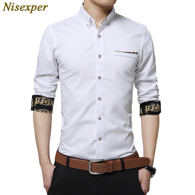 4d4473b50 2018 New Spring Cotton Men Shirt High Quality Long Sleeve Slim Fit Dress  Shirt Modern Casual Male Social Shirt Big Size 5XL