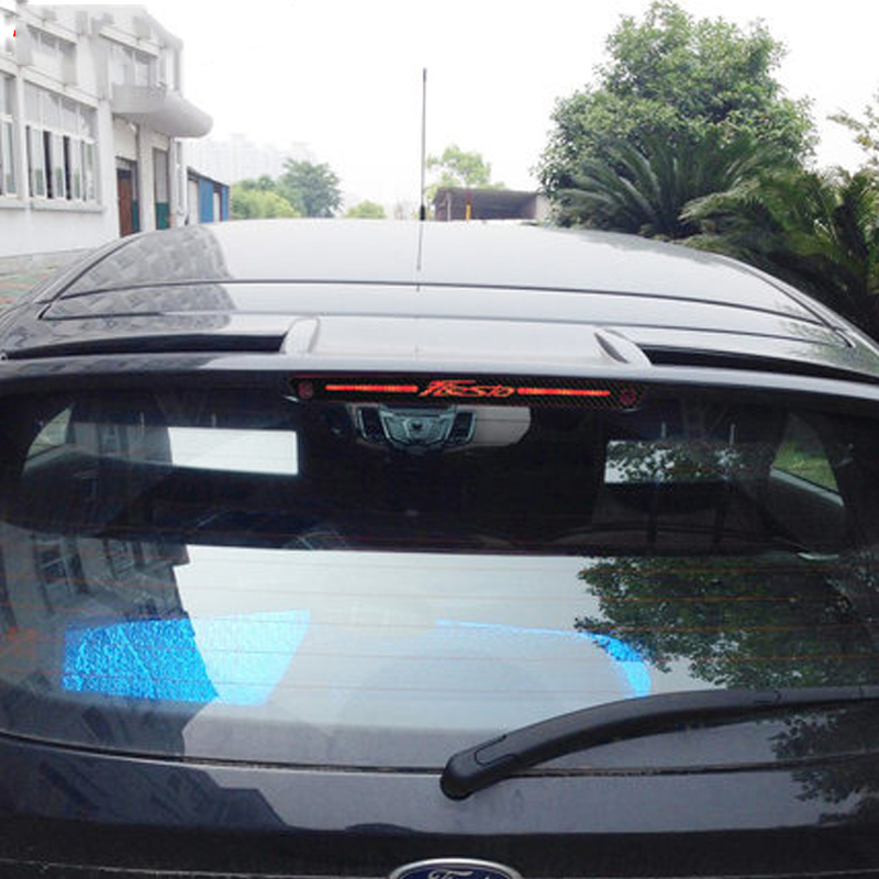 Image 3 - Carbon Fiber Stickers And Decals High Mounted Stop Brake Lamp Light Car styling For Ford Fiesta Hatchback 2009 2015 Accessories-in Car Stickers from Automobiles & Motorcycles