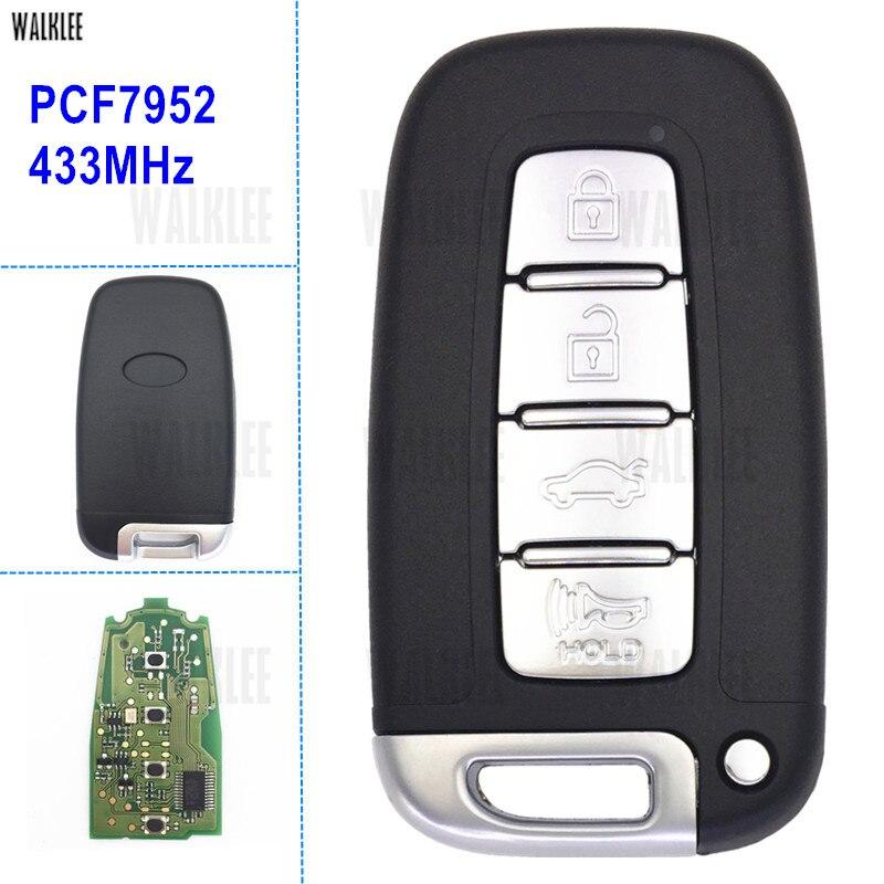 WALKLEE Smart Key Fit for KIA K2 K5 Cerato Forte Optima Rio Sportage Sorento Remote Door Lock 433MHz ID46 / PCF7952 Chip