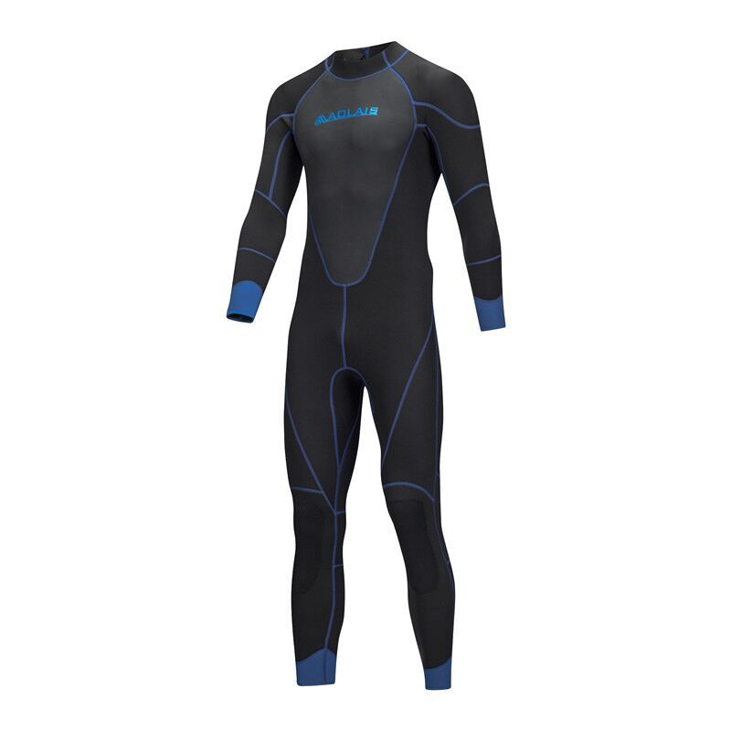 цена на Men Spearfishing Wetsuit 3mm Neoprene One Piece Swimsuit Dive Surf Snorkel Swim Wet Suit Swimwear Long sleeve Beach Triathlon