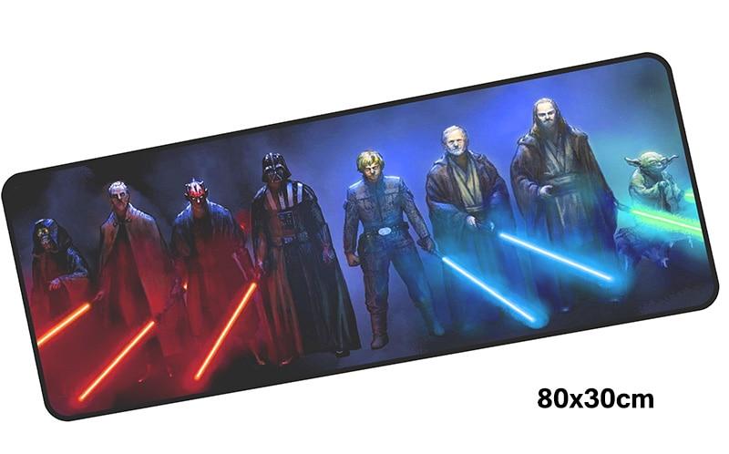 Star Wars коврик для мыши gamer 800x300 мм notbook коврик для мыши большой игровой коврик для мыши большой подарок на Хэллоуин коврик для мыши PC стол padmouse