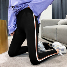 2019 New Fashion Womens Spring And Autumn High Elasticity And Good Quality Slim Fitness Capris Streetwear Leggings Cotton Pants