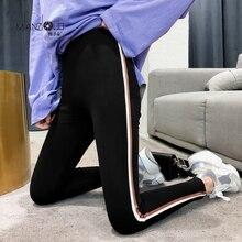 Pantalones capri mallas Streetwear de algodón para mujer, ajustados, de alta elasticidad y buena calidad, primavera y otoño, 2019