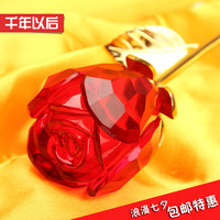 Singles Confession Crystal Roses Creative Novelty Send His Girlfriend Wife Romantic Special Surprise Birthday Gift Items