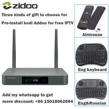 X9s zidoo hdmi cuadro de tv android 6.0 16g con ee. uu. de la ue rusia Aisa IPTV Película kodi Addon Multimedia Bluetooth 4 K envío keboard Airmouse