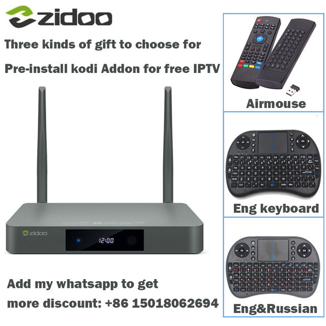 ZIDOO X9S HDMI TV BOX Android 6.0 16G with US EU Russia Aisa IPTV Movie kodi Addon Multimedia Bluetooth 4K free keboard Airmouse