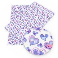 Handmade-Materials Fabric Faux-Synthetic-Leather for Handbag Hair-Bow 1yc6508 DIY Heart-Printed