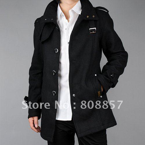 5f76023e03930 winter coats mens coat jacket winter coat mens jacket black Grey jacket  woolen cotton high quaity