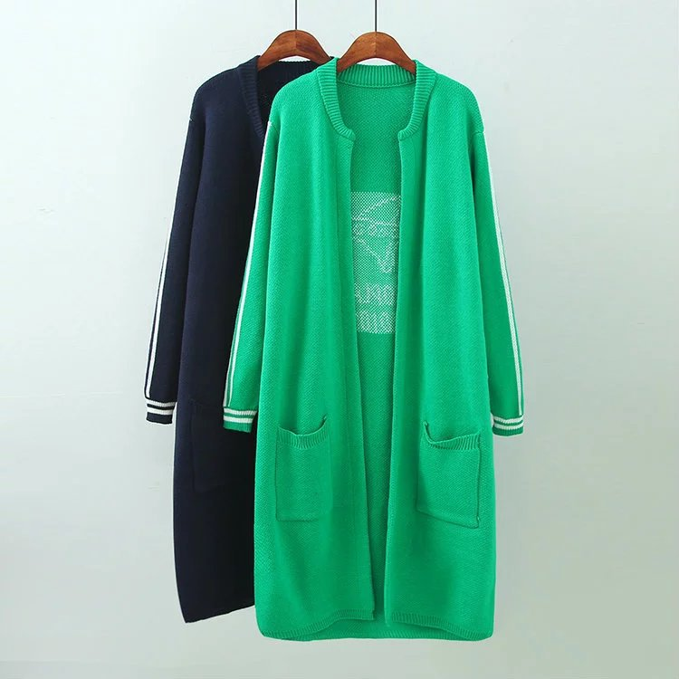 2016new large green font b women b font cardigans outwear trench lady font b fashion b