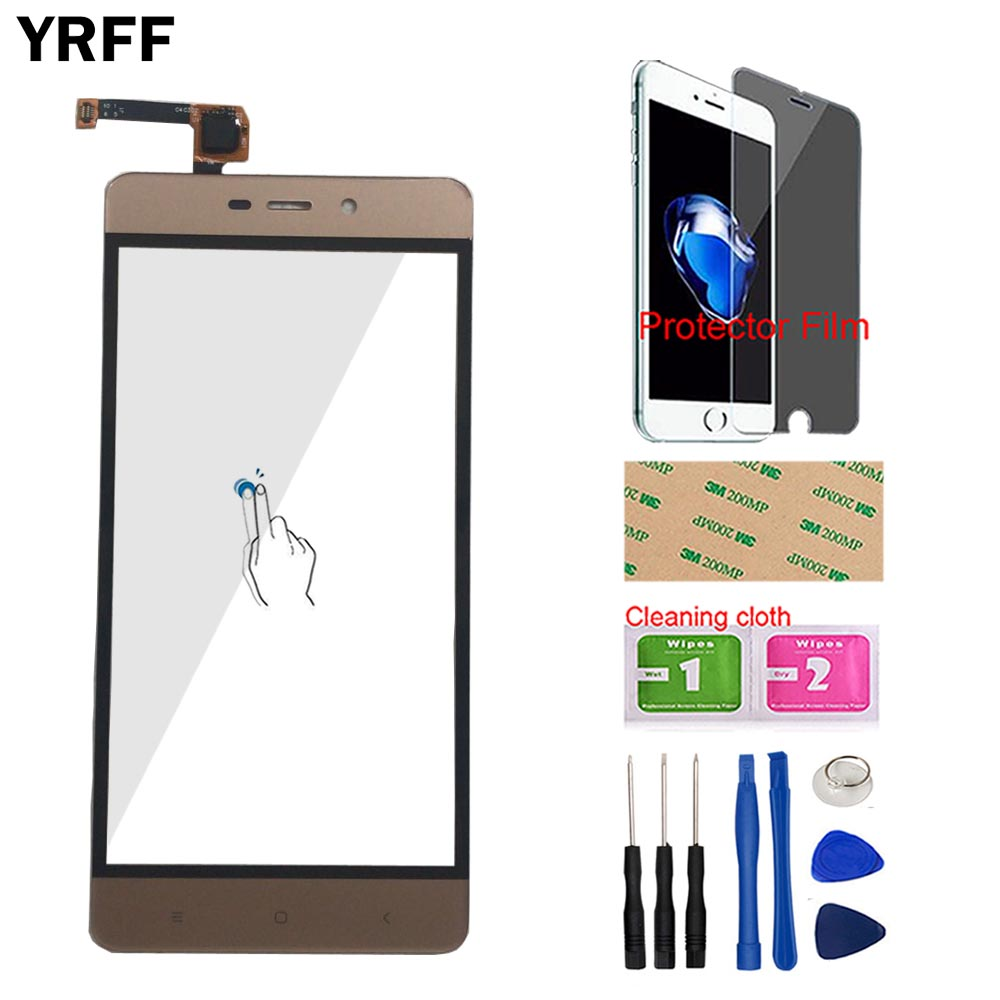 Mobile Touch Panel For Xiaomi Redmi 4 Pro 4Pro Touch Screen Digitizer Sensor Phone Front Glass Touchscreen Tools Protector Film