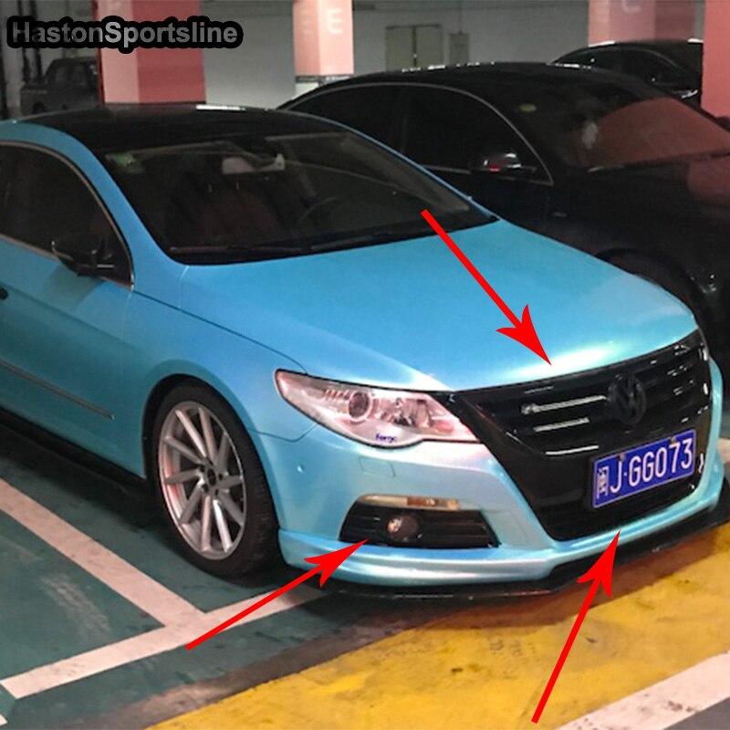 Pour VW Passat CC cadre noir capot avant Grille centrale Grille pour Volkswagen CC 2010-2012