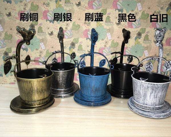 New Arrival Metal Bucket Ashtray Home Bar Accessories Cigarette Ash - Household Merchandises - Photo 5