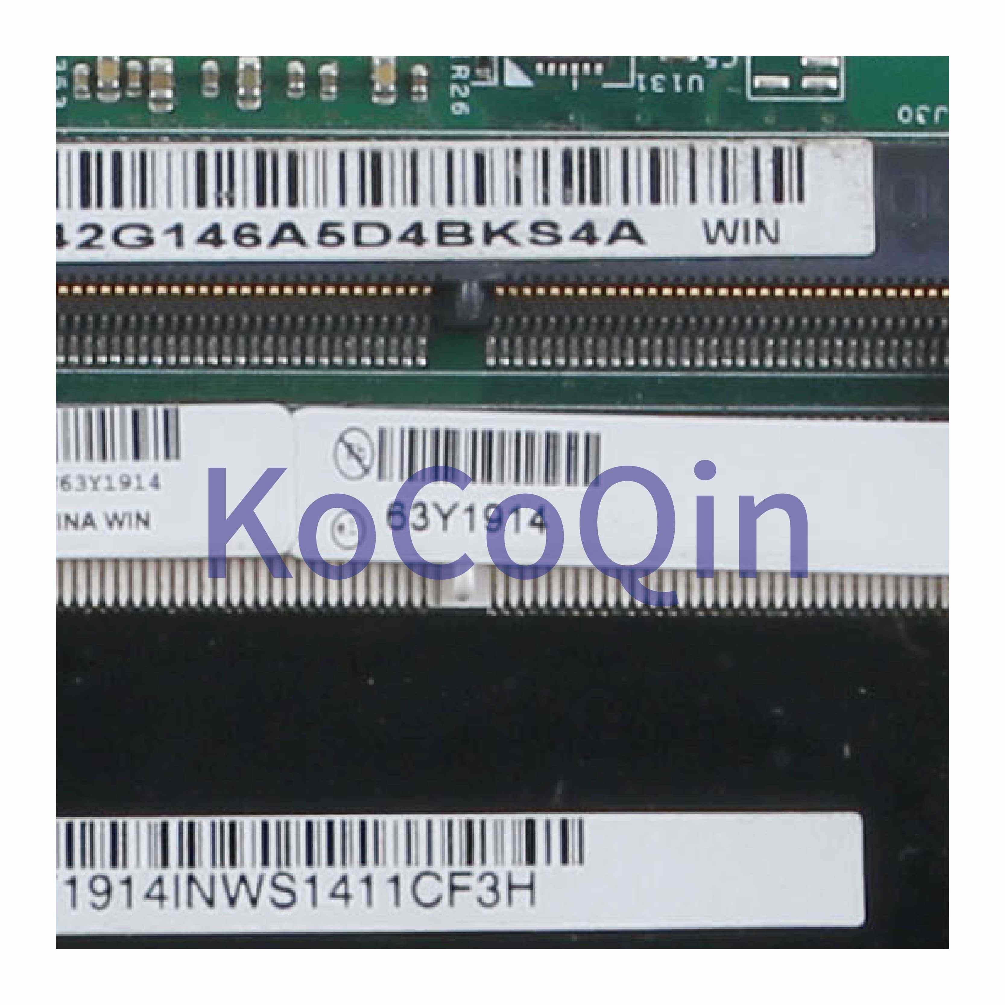 KoCoQin האם מחשב נייד עבור LENOVO Thinkpad T420S Core I5-2520M Mainboard 63Y1914 H0223-4 48.4KE58.041 QM67