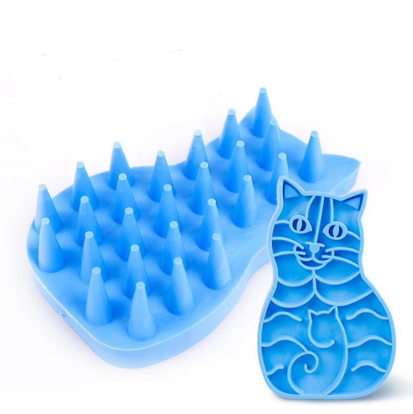 100 pcs/lot coloré Silicone chien bain brosse peigne nettoyage bain Massage toilettage animaux brosse