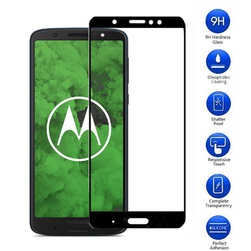 Full Cover Tempered Glass For moto g6 plus Screen Protector For Motorola Moto G5 E4 G6 Plus G5S G6 play Case Protective Film image