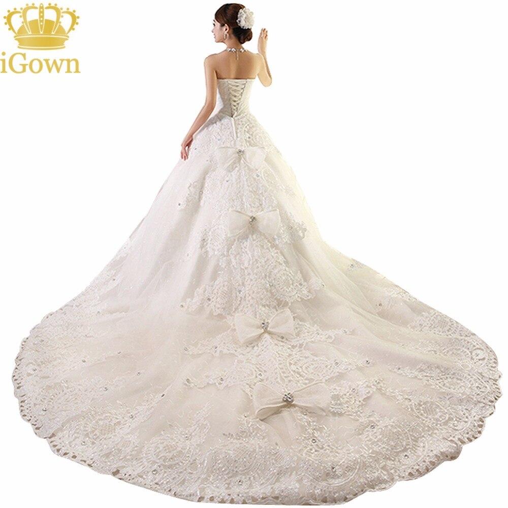 Buy plus size wedding dress crystal 100cm for Plus size wedding dress with color