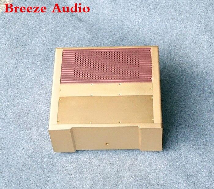 Мощность Усилители домашние шасси Алюминий случае ЦАП усилителя В виде ракушки/DIY домашнего аудио AMP случае