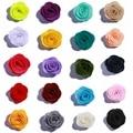 10 шт., декоративные цветы розы из войлока, 4 см