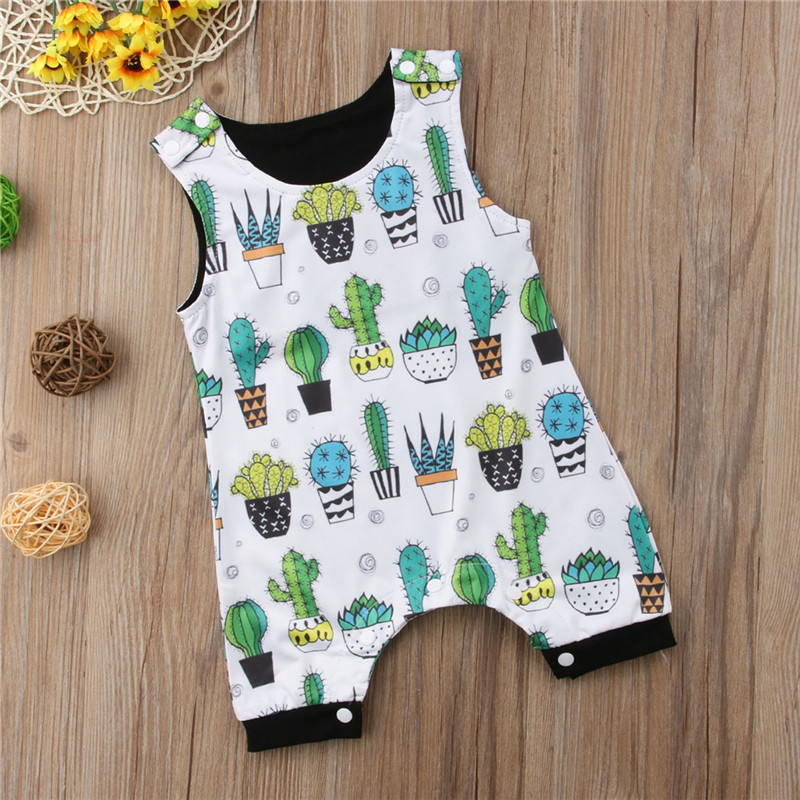 Lovely Toddler Kids Baby Boys Cotton Romper Sleeveless Jumpsuit Clothing Outfit