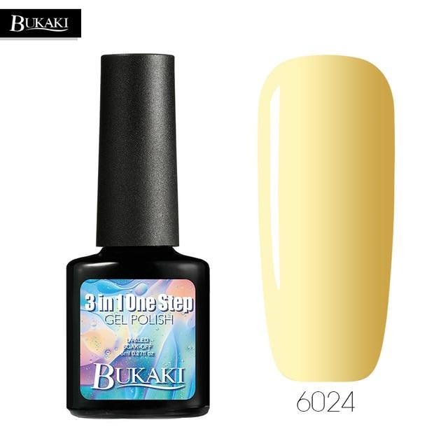 BUKAKI 3 In 1 UV Gel Varnish One Step Gel Nail Polish No Need Top Caot & Base Coat Lucky Soak Off Colors Gel Lacquer