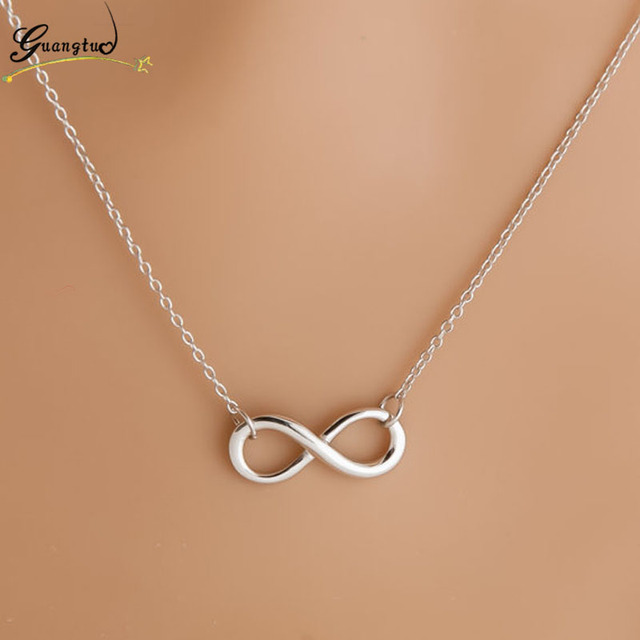 Charm Fashion Infinity 8 Leaf Cross Bird Pendant Necklaces Collares For Women Bi
