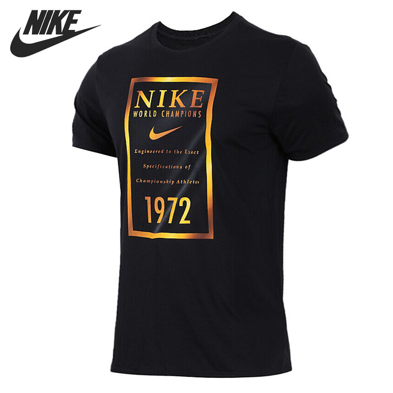 Original New Arrival 2018 NIKE DRY TEE GOLD BANNER Men's T-shirts short sleeve Sportswear original new arrival 2017 nike as m nk dry tee db st bm 1 men s t shirts short sleeve sportswear