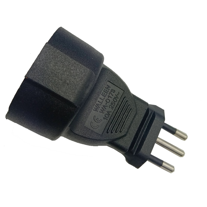 Wa 0173 Embedded Germany French Eu To Brazil Plug Electrical Ac Power Adapter Socket Converter Brasil Travel Power Adapter Plu in AC DC Adapters from Consumer Electronics