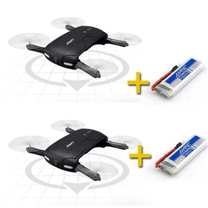 2 unids JJRC H37 Elfie Alitude Espera Wifi FPV 0.3MP Cámara Plegable Paquete Drone RC Quacopter con Cuatro Baterías