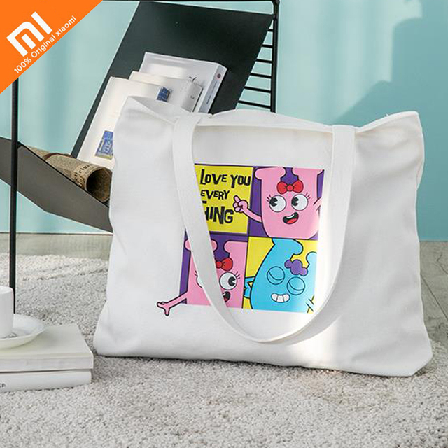 Original xiaomi mijia canvas bag female students large-capacity package simple fashion Japanese and Korean style portable shoppi