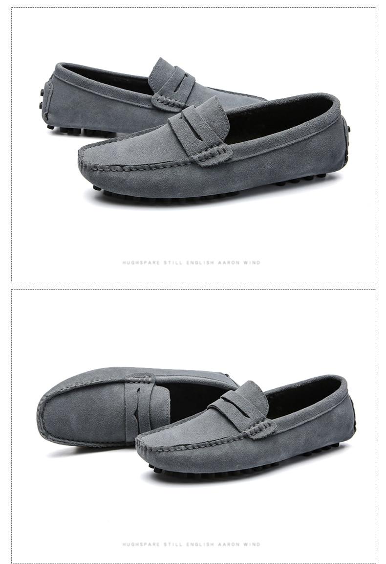 DEKABR Size 49 Men Casual Shoes Fashion Men Shoes Genuine Leather Men Loafers Moccasins Slip On Men's Flats Male Driving Shoes