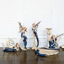 Европейская смола мечта цветок фея украшения творческий ангел украшения подсвечник товары для дома подарок на день рождения свадьбу ремесла