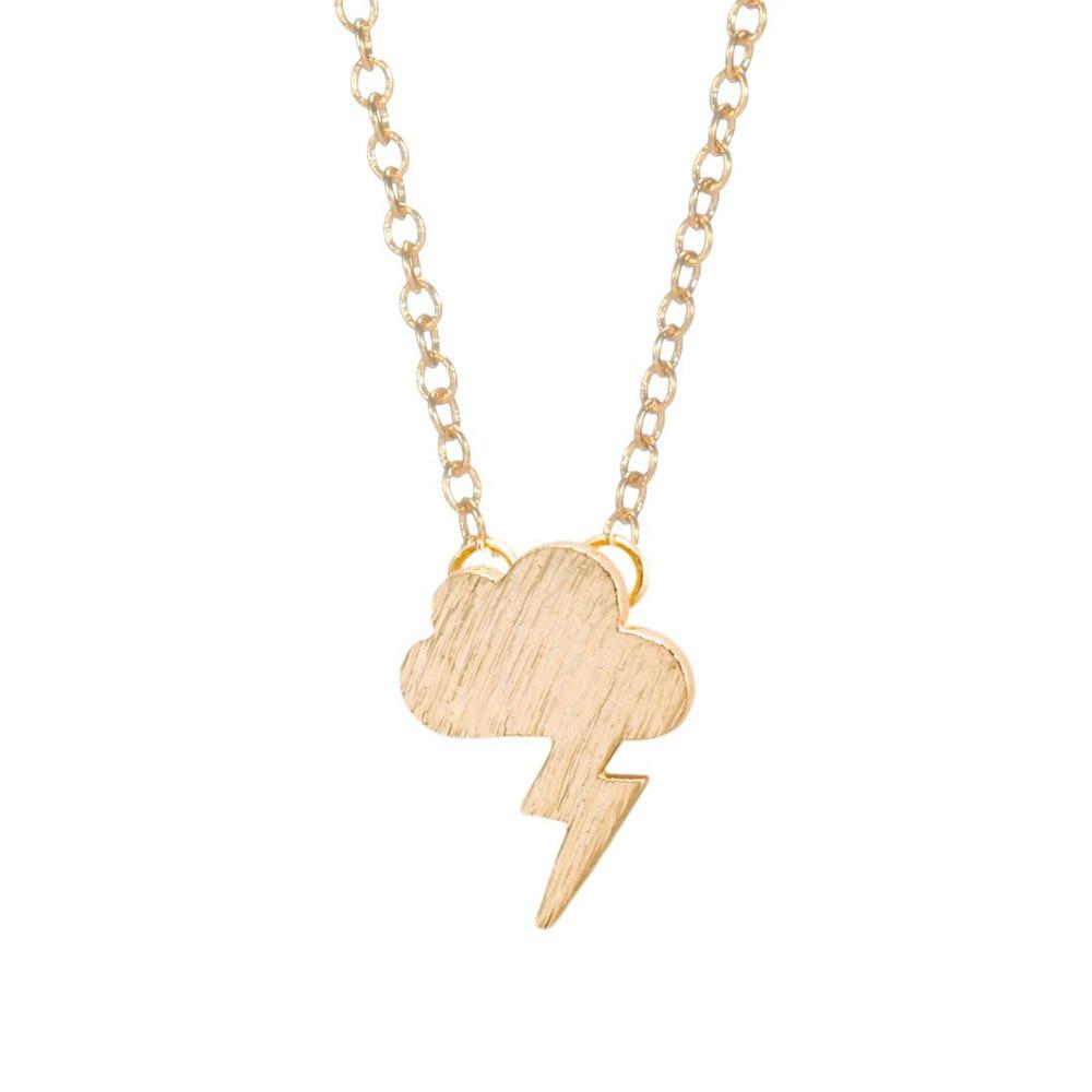Shuangshuo Lightning Cloud Pendant Necklace Boho Grumpy ...