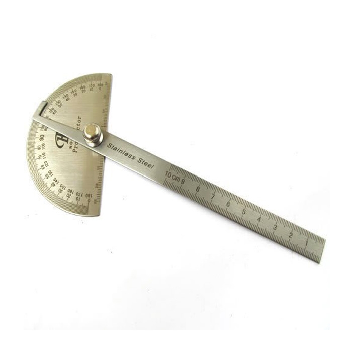High Quality Stainless Steel Protractor 180 degree Round Head Angle Finder Craftsman Rule Ruler Machinist Measuring Tool angle ruler protractor stainless steel rulers with 180 degree angle square woodworking 10cm length high precision angle ruler