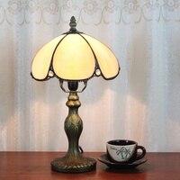 Eusolis 8 дюймов Винтаж настольная лампа пятнистости Стекло деко Maison прикроватной тумбочке лампы Lamparas Infantiles De Mesa Lampes де чевет