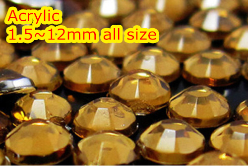 Mid Coffe Color 1.5~12mm All size Choice Flat Back Round Acrylic rhinestone,Acrylic Resin 3D Nail Art / Garment Rhinestone  cryatal clear color 1 5 20mm flat back round acrylic rhinestone acrylic resin 3d nail art garment rhinestone