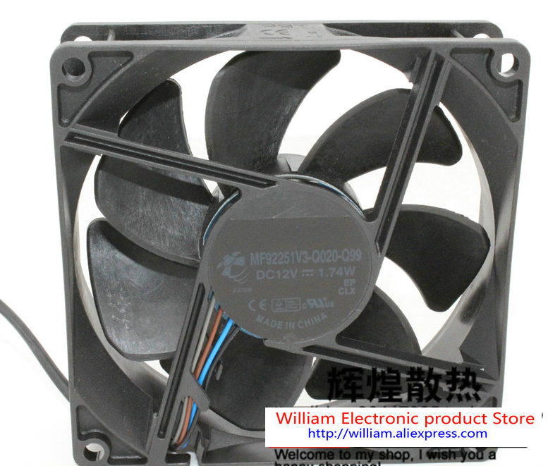 New Original MF92251V3-Q020-Q99 DC12V 1.74W 92*92*25MM 4 lines for BenQ Optoma projector cooling fan FONSONING free delivery 9225 inverter argon arc welding machine cooling fan small fan 92 92 25mm dc24v copper motor