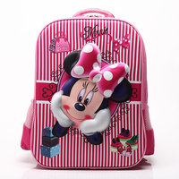 Orthopedic Minnie Backpackds for Girl Waterproof school backpack Kindergarten Children Schoolbag Mochila Infantil Rucksack