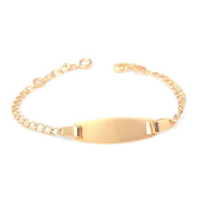 17CM Kids Bracelets Baby Jewelry Star Bracelet Bebe Pulsera Gold