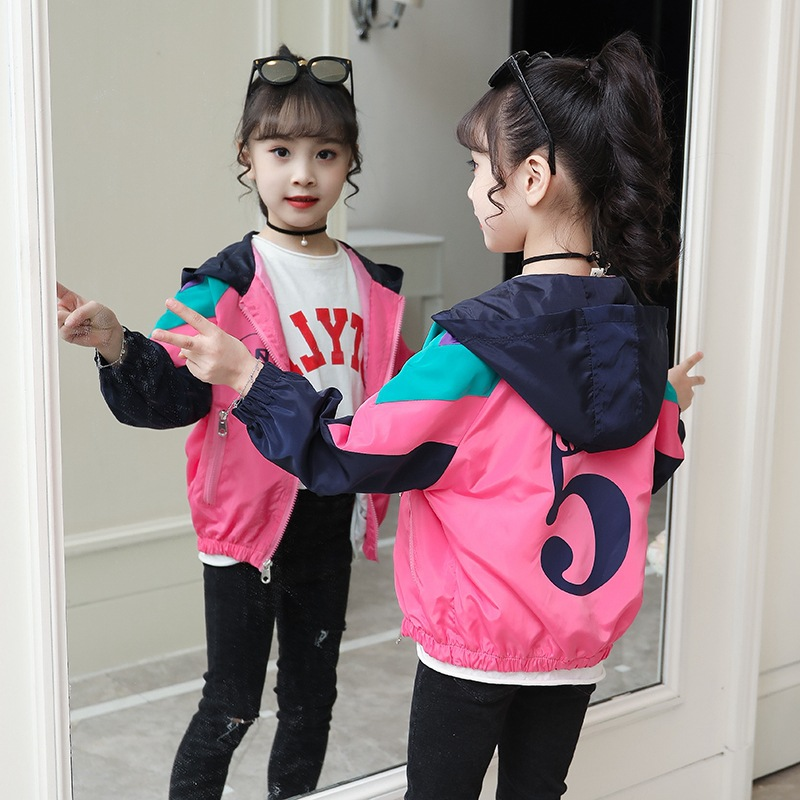 Girl 39 s 5 print jacket new spring and autumn girl 39 s outerwear a light and light blouse in bold color in Jackets amp Coats from Mother amp Kids