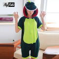 2017 New summer 100% cotton cute cartoon dinosaur unicornio Onesies women sleepwear couples pyjamas for adults kigurumi pajamas