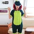 2017 Nuevo verano 100% algodón lindo dinosaurio de la historieta unicornio Onesies mujer dormir parejas pijamas para adultos kigurumi pijamas