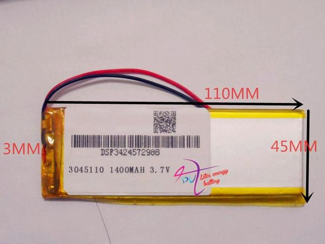 3.7V,1400mAH 3045110 polymer lithium ion / Li-ion battery for model aircraft,GPS,mp3,mp4,cell phone,speaker,b