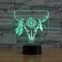 Animal Shape USB Touch Multi Color 3D Led Night Light Novelty Bedroom Bedside Led Table Lamp