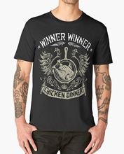 WINNER CHICKEN DINNER T SHIRT YES WE PAN GAMER GAME PS4 XBOX PUBG New  Funny Tops Tee Unisex freeshipping