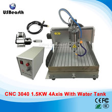 cnc machinery 4 axis rotary aixs usb  mini cnc milling machine 1500w spindle with water tank