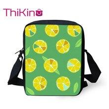 Thikin Cute Fruit Lemon Shoulder Messenger Bag Cool Summer Crossbody for Girls Phone Shopping Bags Mochila Infantil