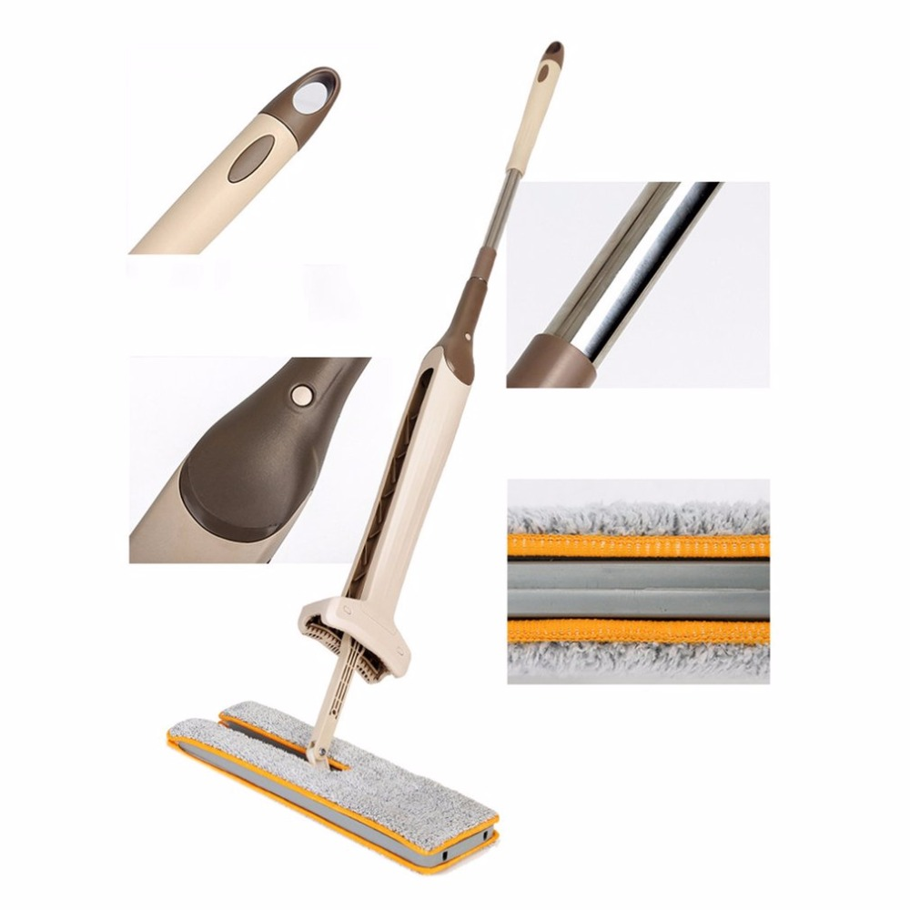 Drop Shipping Self-Wringing Double Sided Flat Mop Telescopic Comfortable Handle Mop Floor Cleaning Tool For Living Room Kitchen new pure au750 rose gold love ring lucky cute letter ring 1 13 1 23g hot sale
