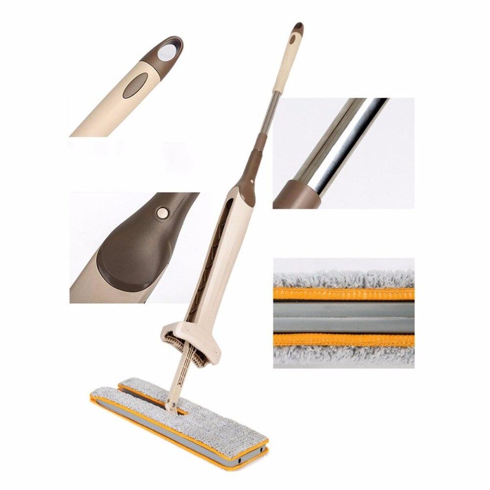 Envío de la gota de escurrido doble cara plana telescópica fregona mango cómodo piso fregona herramienta de limpieza para la cocina de la Sala