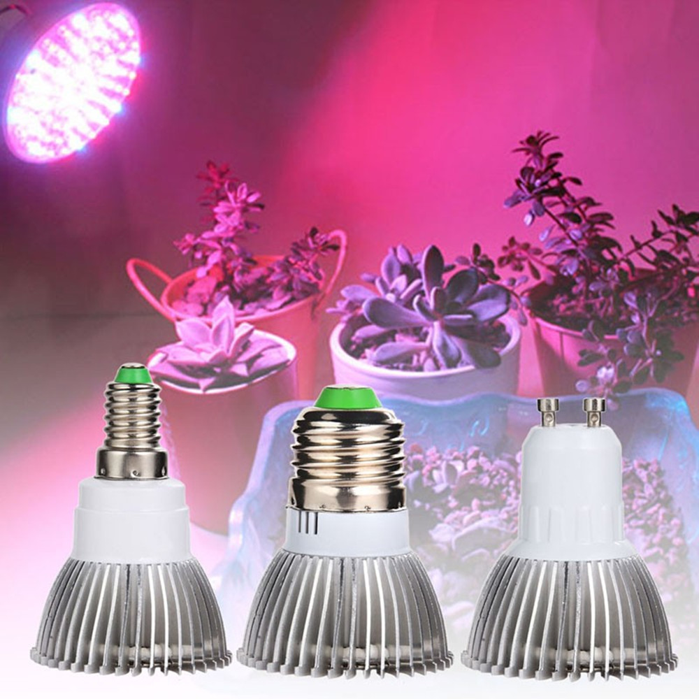 10pcs E27 LED Grow Light 18 28 LEDs Full Spectrum Plant Growing Lamp LED Lights Indoor Vegetable Hydroponics Lamp 110V 120V 220V